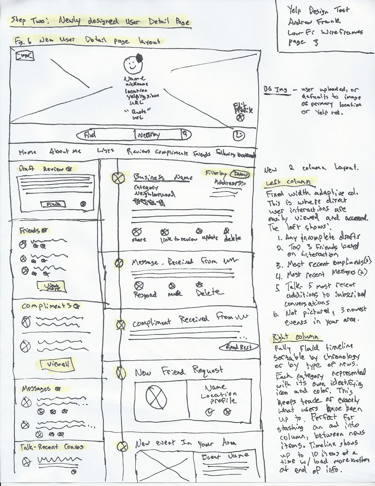 Yelp Low-fi UX Sketch